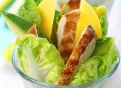 Chicken, avocado & mango salad