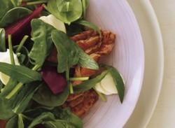 Lamb, mint & beetroot salad