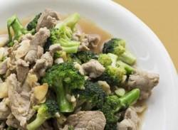 Pork, baby corn & broccoli stir-fry